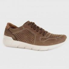 Коричневые кожаные мужские кроссовки 4284-BRO