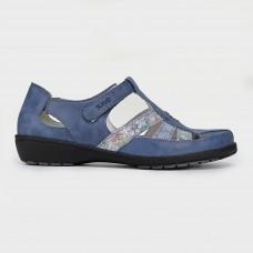 Мокасины синие кожаные 8031-NAV