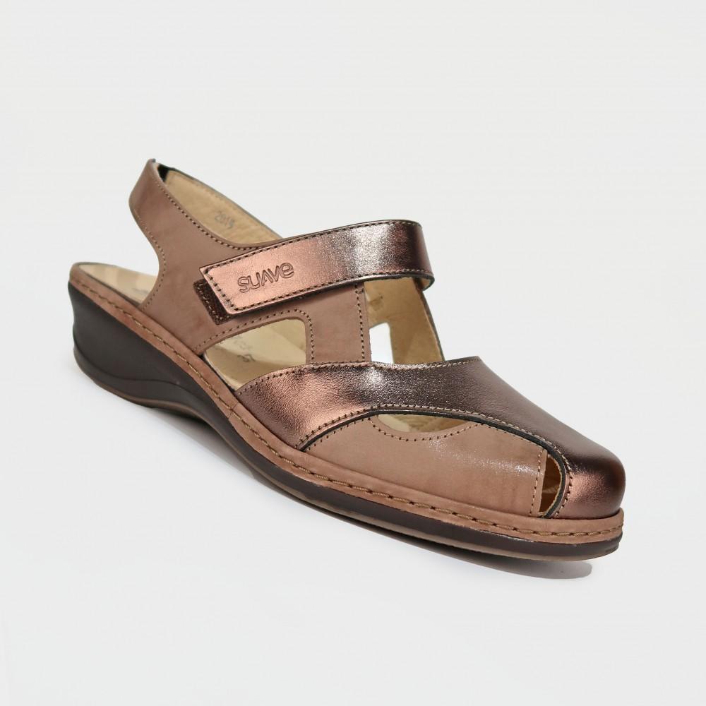 Сабо коричневые кожаные 0943-BRO