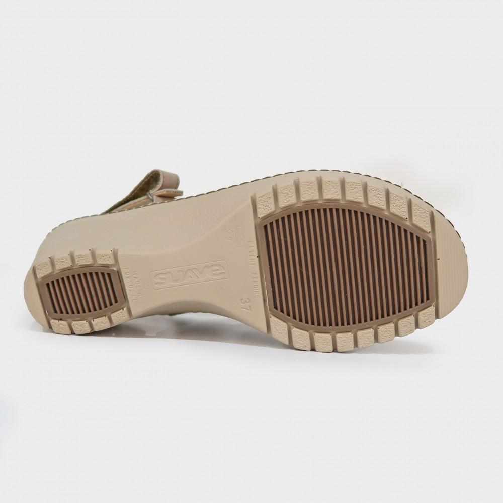 Босоножки бежевые кожаные 5814-NUD