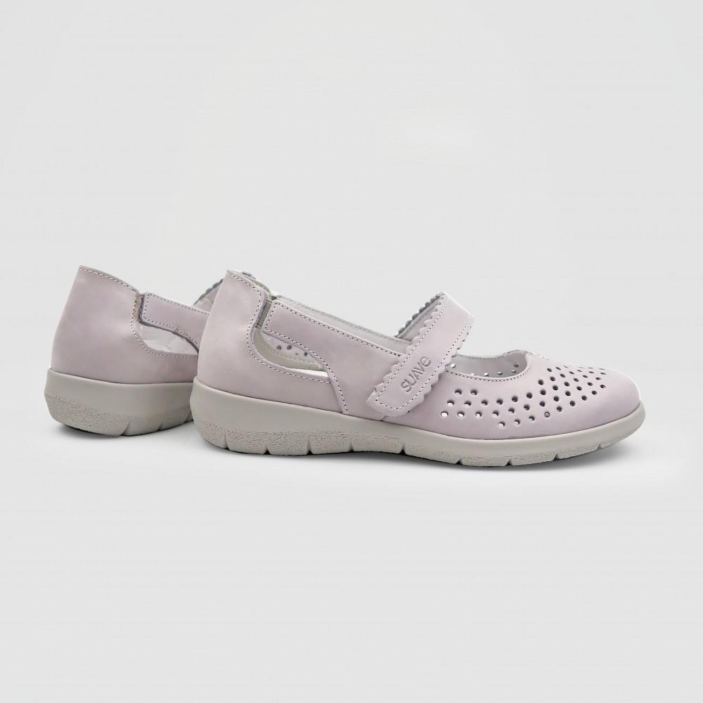 Мокасины розовые кожаные 6632-ROS