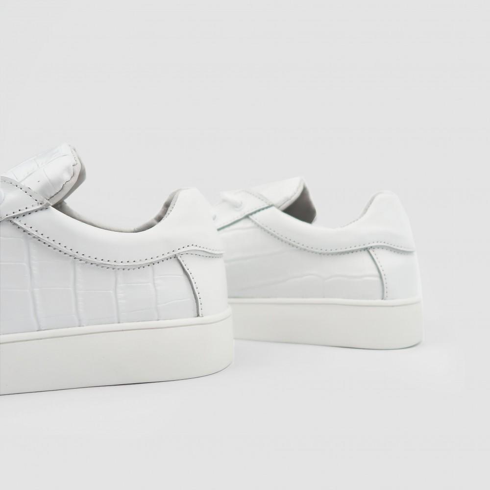 Кеды белые кожаные 2340-WHI