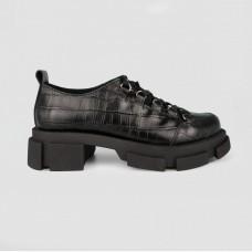 Туфли черные кожаные 12348-BLK