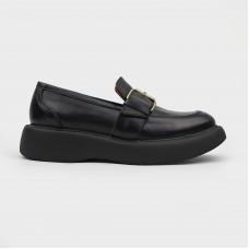 Лоферы черные кожаные 2215-1-BLK
