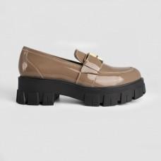 Туфли бежевые кожаные 12215-NUD
