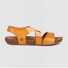 Босоножки желтые кожаные BEACH-141-YEL