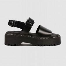 Босоножки черные кожаные ELBA-001-BLK