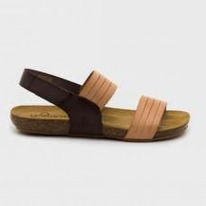 Босоножки коричневые кожаные BEACH-142-BRO