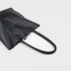 Сумка черная кожаная 02802-BLK