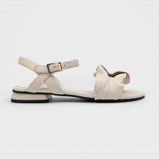 Белые кожаные босоножки EL6404X-WHI