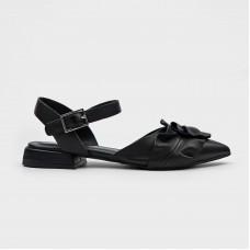 Черные кожаные босоножки EL5606X-BLK