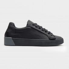 Черные кожаные кеды 200131-BLK